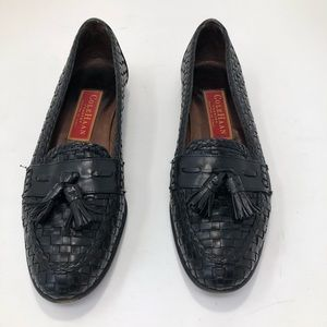 Cole Haan Tasseled Woven Leather Loafers-Narrow